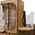 Convertible Radiant sauna tent with assembly parts and accessories at Wellness Shopping Online.