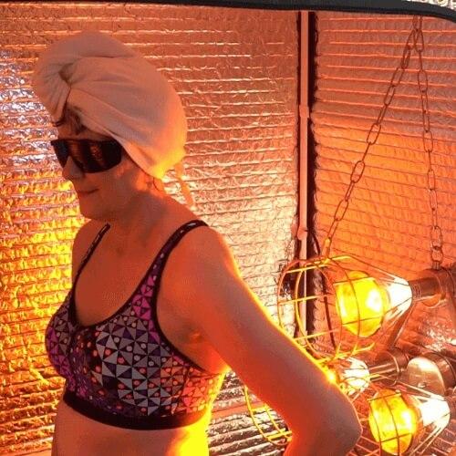 Organic Bamboo Cotton Sauna Hat protects Hair