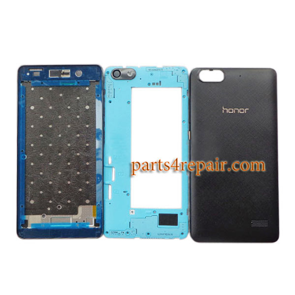 Full Housing Cover with Side Keys for Huawei Honor 4C -Black
