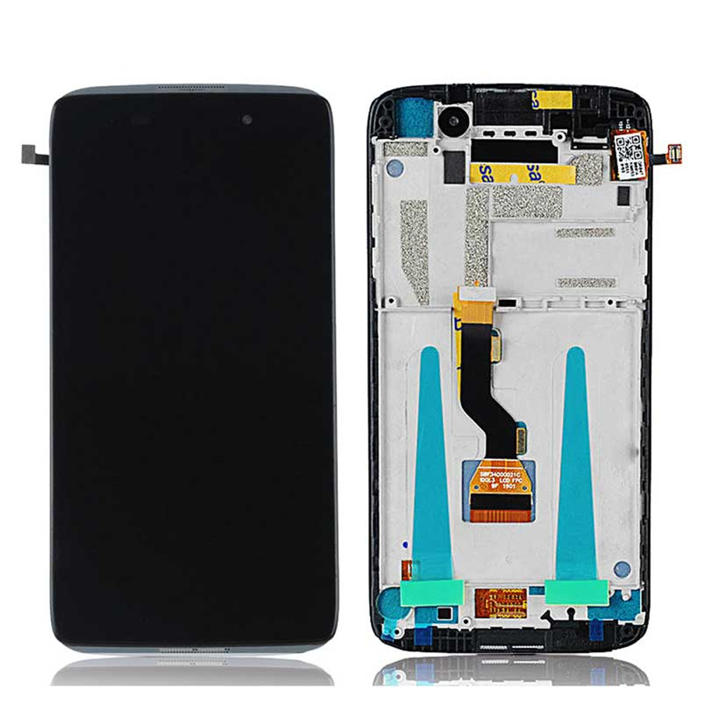 Alcatel Idol 3 4.7 OT6039 LCD Screen Digitizer Assembly with Frame Black   Parts4Repair.com