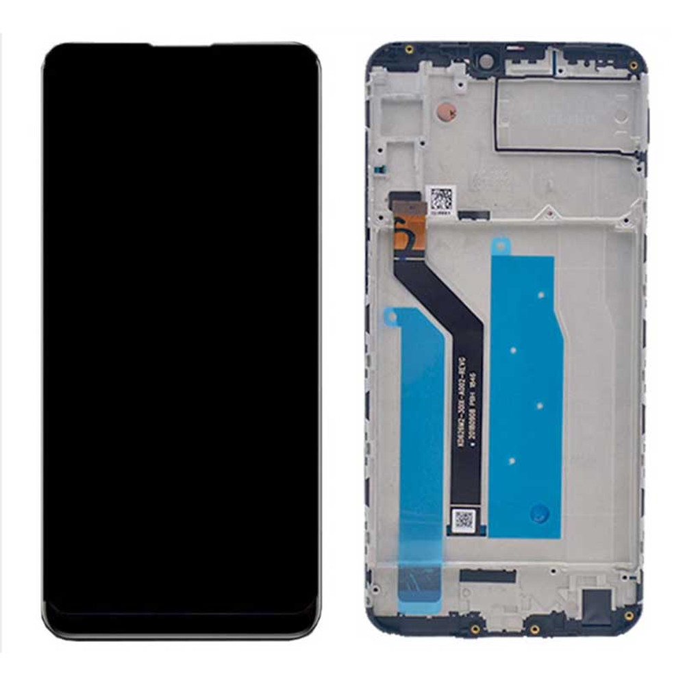 Asus Zenfone Max Plus M2 ZB634KL LCD Screen Digitizer Assembly with Frame Black   Parts4Repair.com