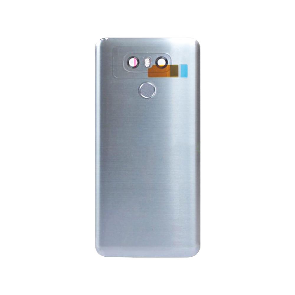 Back Housing Cover with Fingerprint Flex for LG G6 Silver | Parts4Repair.com