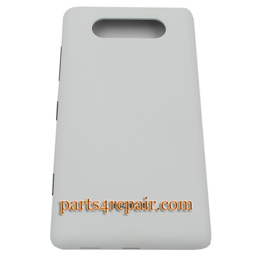 Back Cover for Nokia Lumia 820 -White from www.parts4repair.com