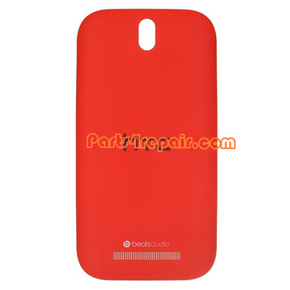 Back Cover for HTC One SV -Red from www.parts4repair.com