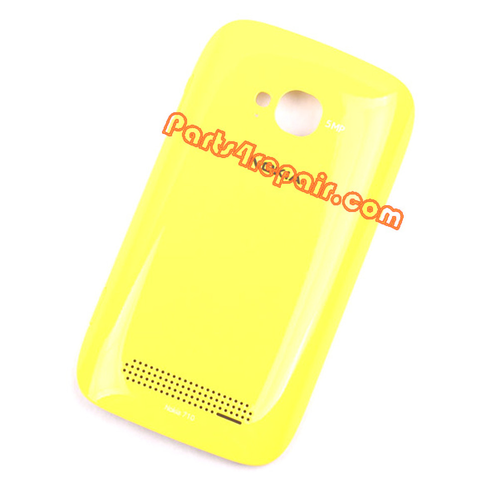 Back Cover for Nokia Lumia 710 -Yellow from www.parts4repair.com