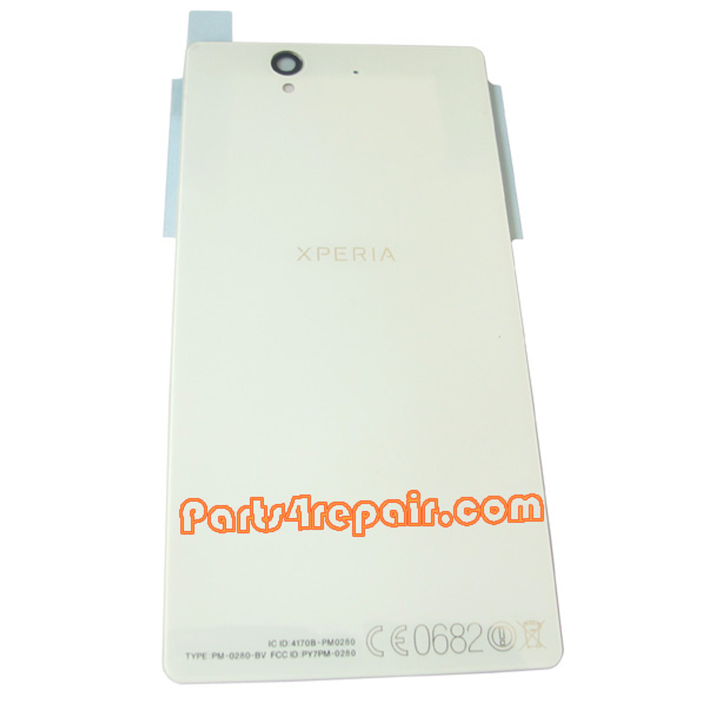Back Cover for Sony Xperia Z L36H -White