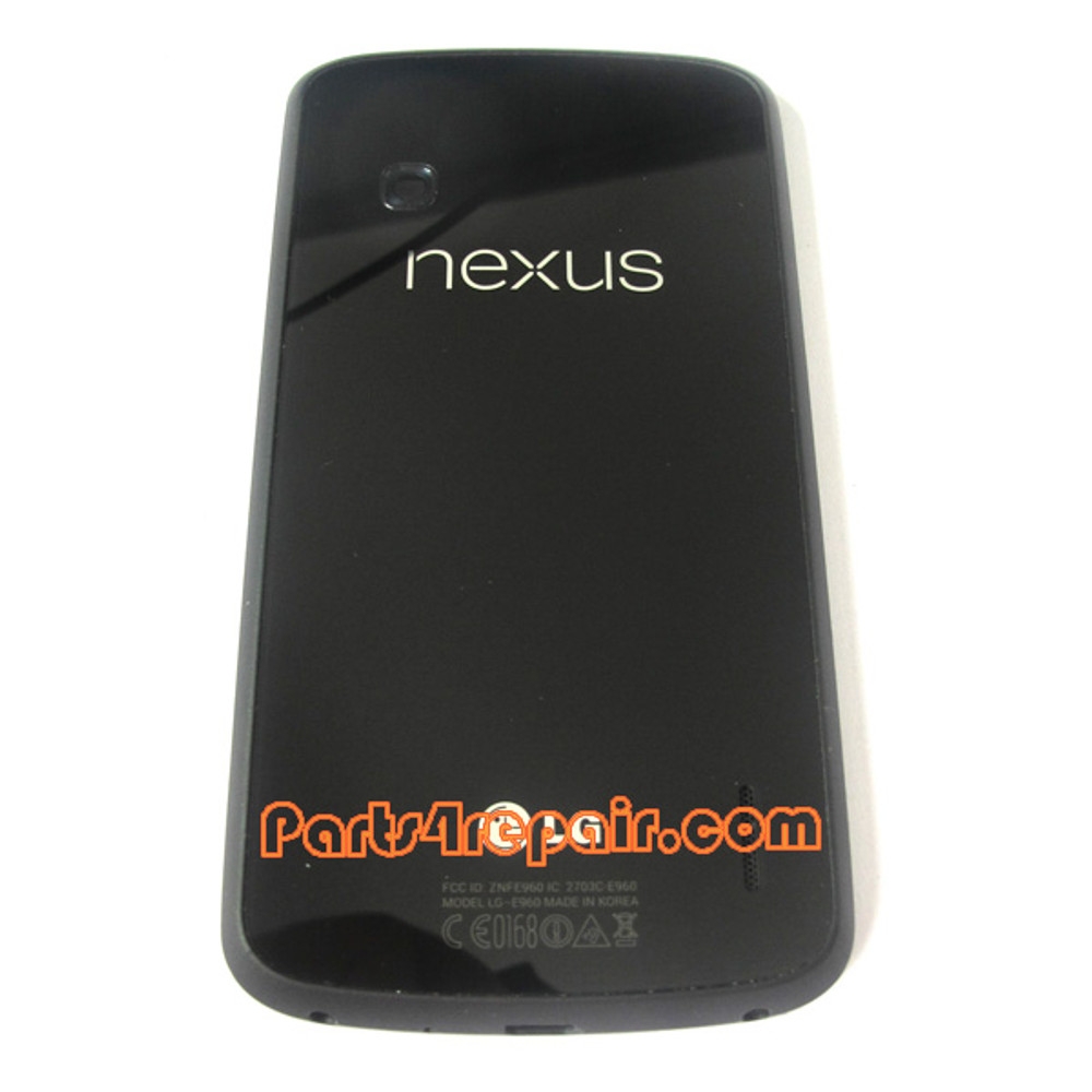 Back Cover with NFC for LG Nexus 4 E960 from www.parts4repair.com