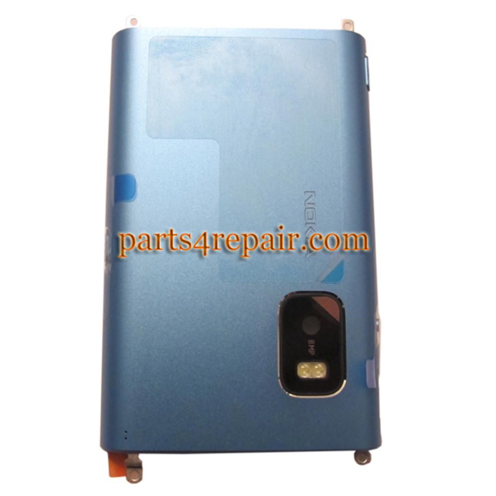 Back Cover for Nokia E7 -Blue
