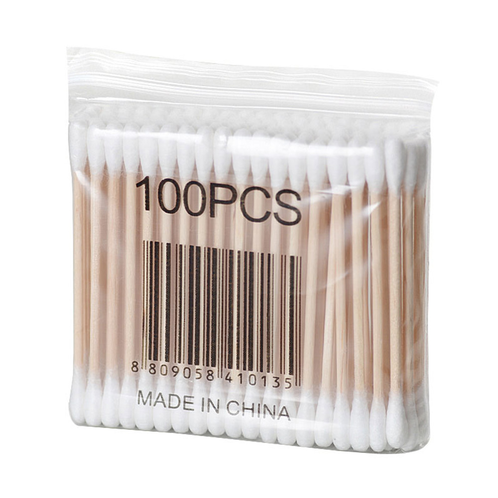 100pcs/packet Cotton Swabs with Wooden Shaft