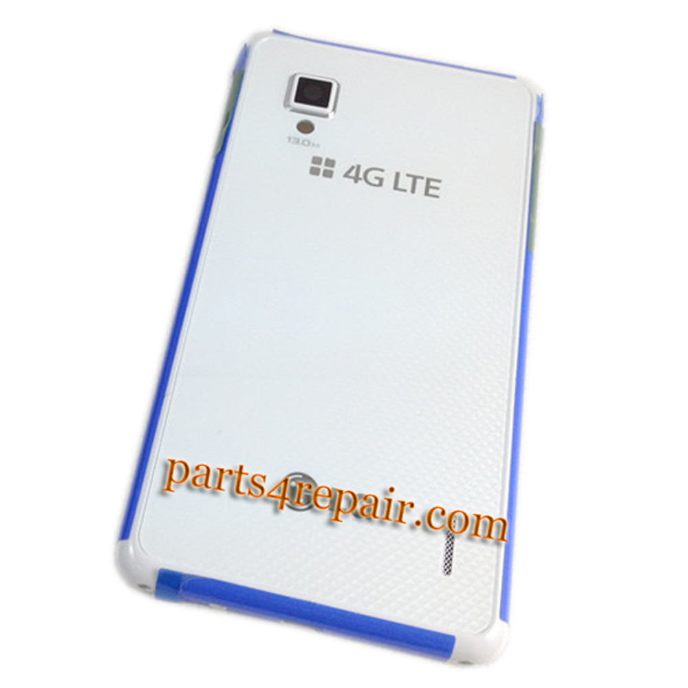 Back Cover for LG Optimus G F180 -White from www.parts4repair.com
