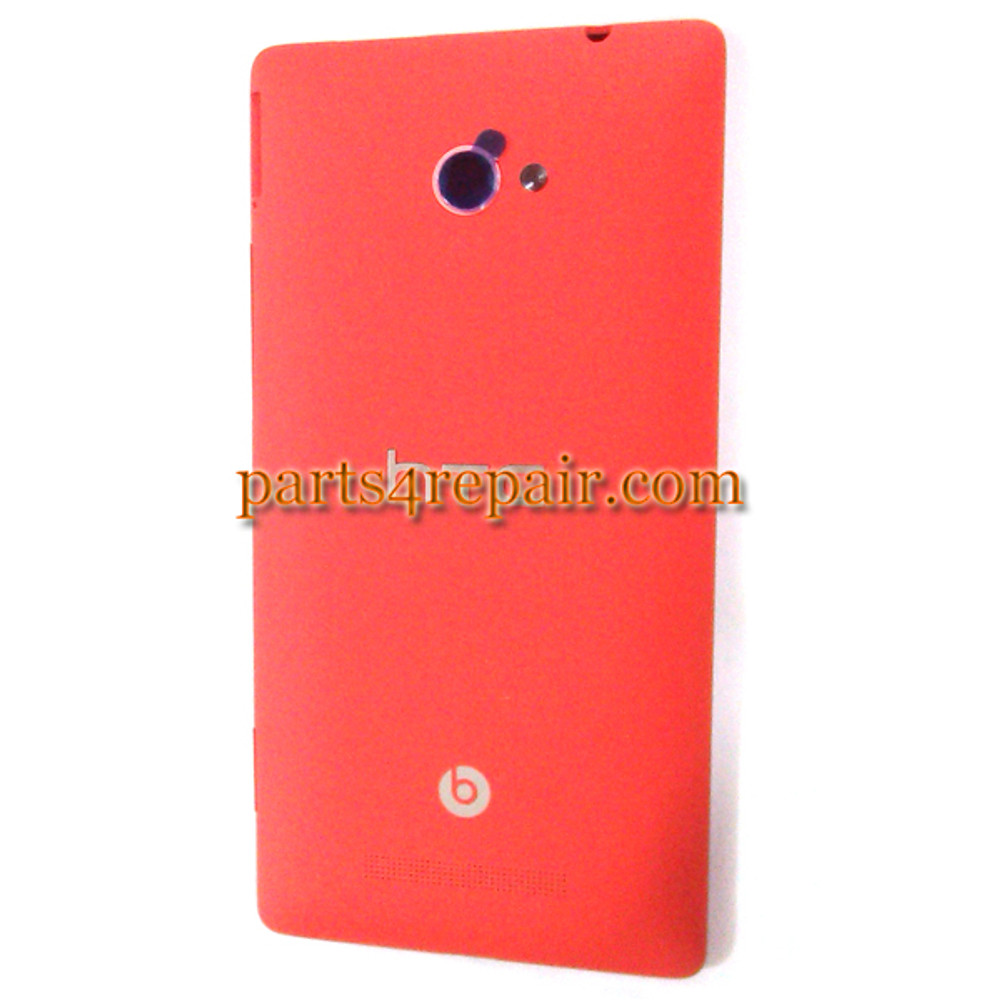 Back Cover for HTC 8X (HTC Version) -Red from www.parts4repair.com