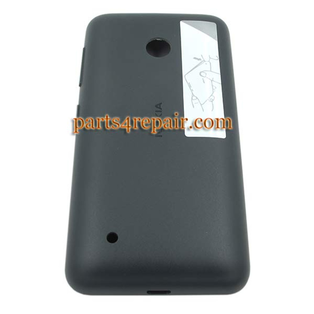 Back Cover with Side Keys for Nokia Lumia 530 -Black