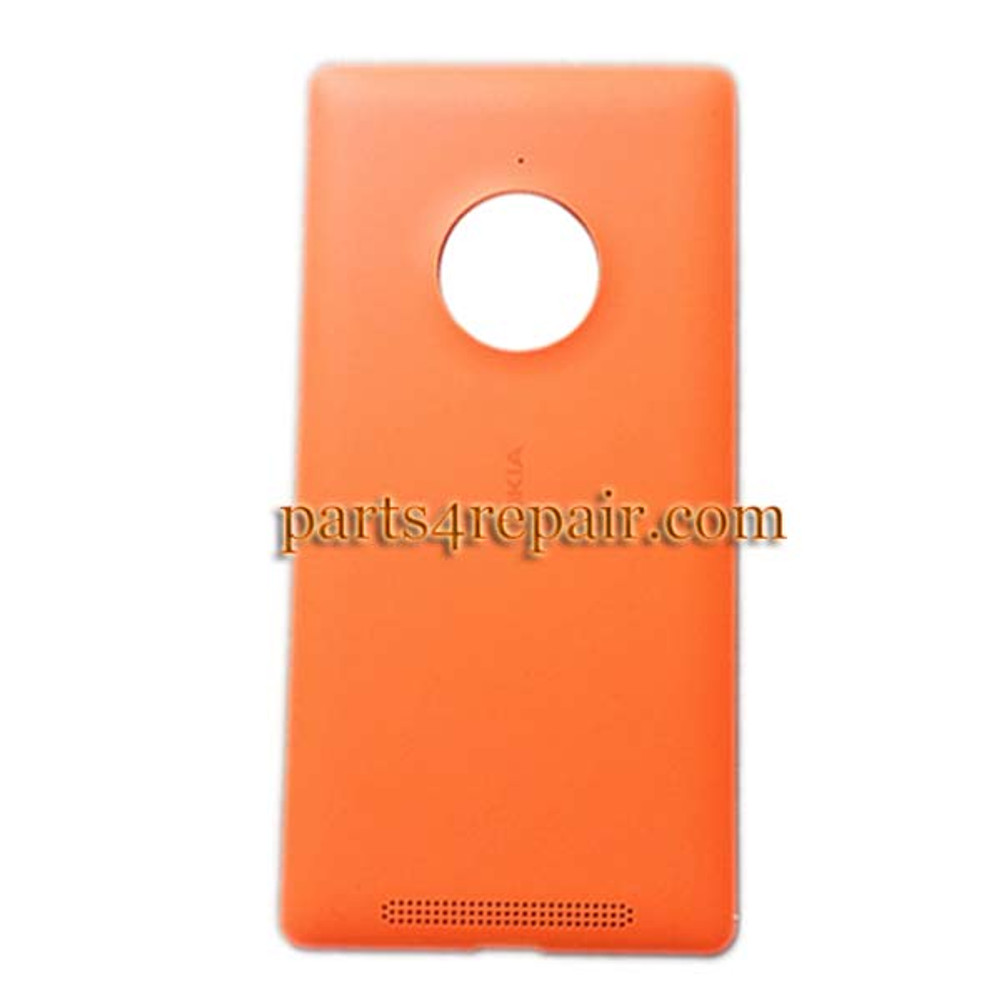 Back Cover with Wireless Charging Coil for Nokia Lumia 830 -Orange from www.parts4repair.com