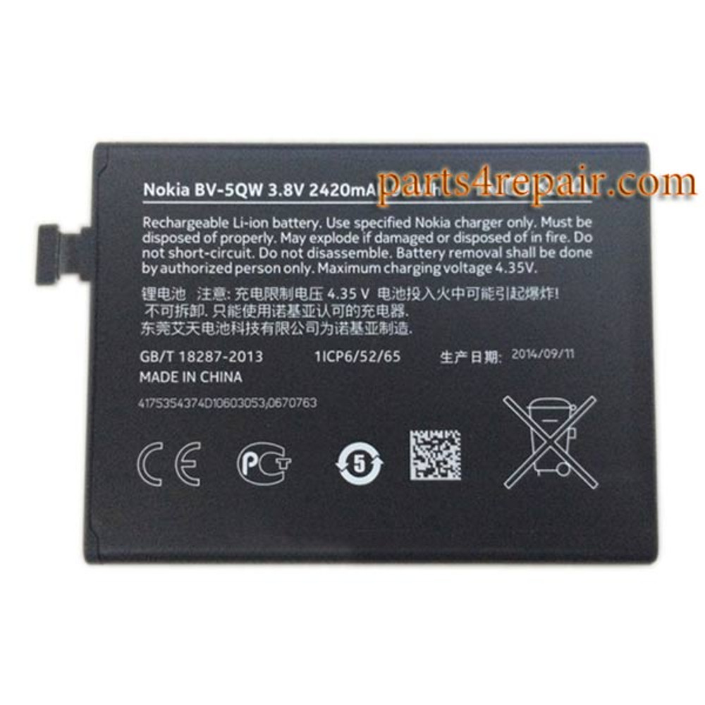 BV-5QW Built-in Battery for Nokia Lumia 930 from www.parts4repair.com