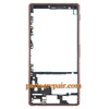 Front Housing Cover with Side Keys for Sony Xperia Z3 -Copper