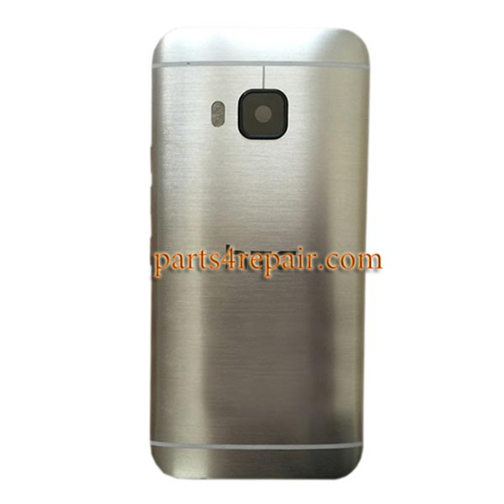 Back Cover with Side Keys for HTC One M9 -Silver