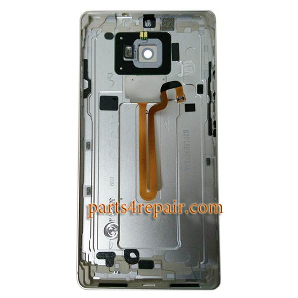 Back Housing Cover with Fingerprint Flex Cable for Huawei Mate S -Silver