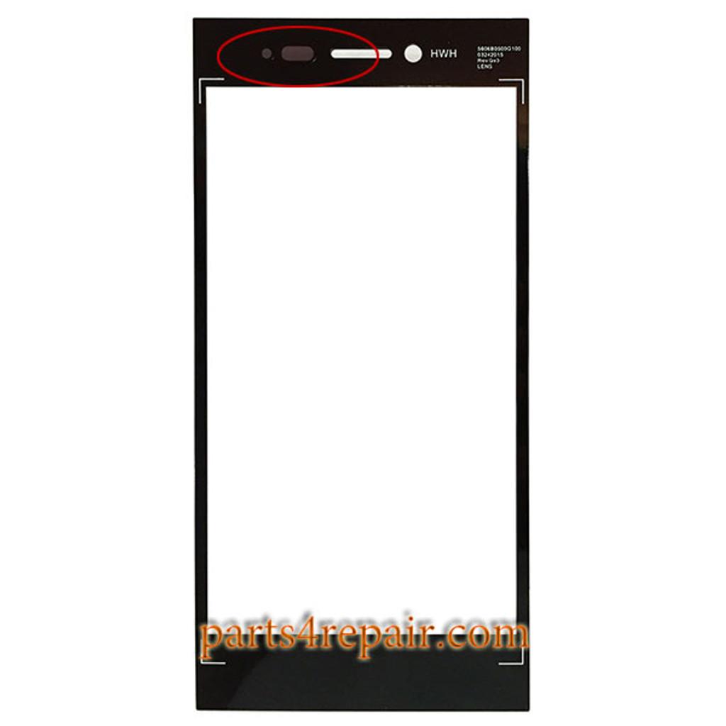Front Glass for BlackBerry Leap Z20 (Version 2) -Black