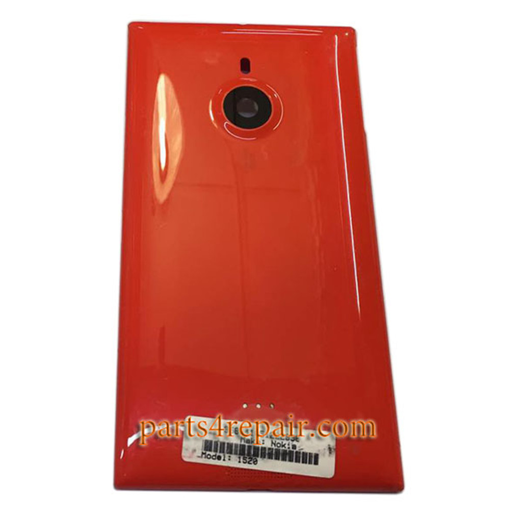 Back Housing Assembly Cover OEM without Wireless Charging Coil for Nokia Lumia 1520 at&t -Red