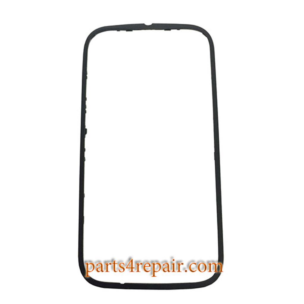 Front Bezel with Side Keys for Motorola Moto E (2nd Gen) -Black