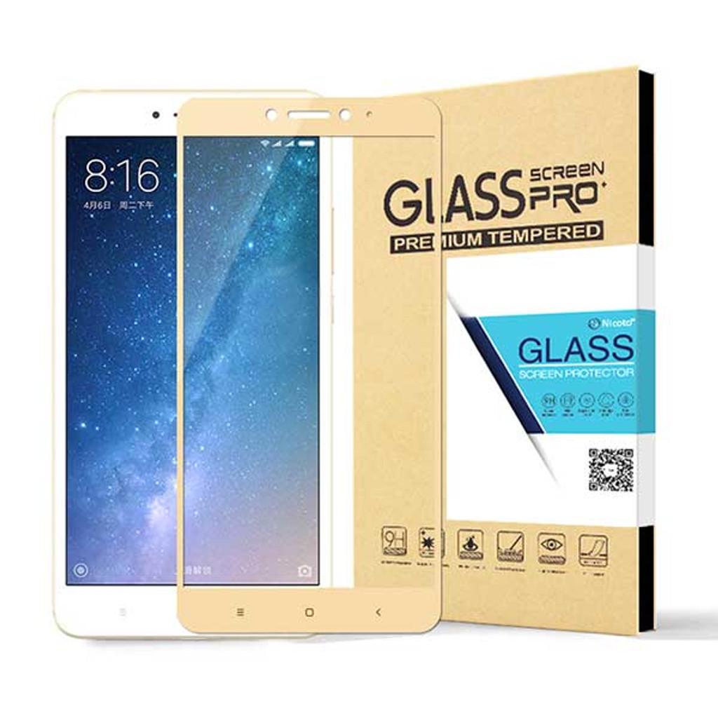 more photos a3db0 9e732 Full Cover Premium Tempered Glass Screen Protector for Xiaomi Mi Max 2