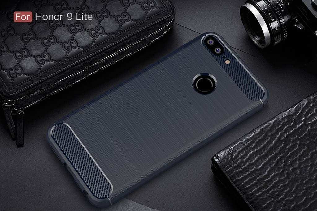 The Blue Carbon Fiber Case for Huawei Honor 9 Lite