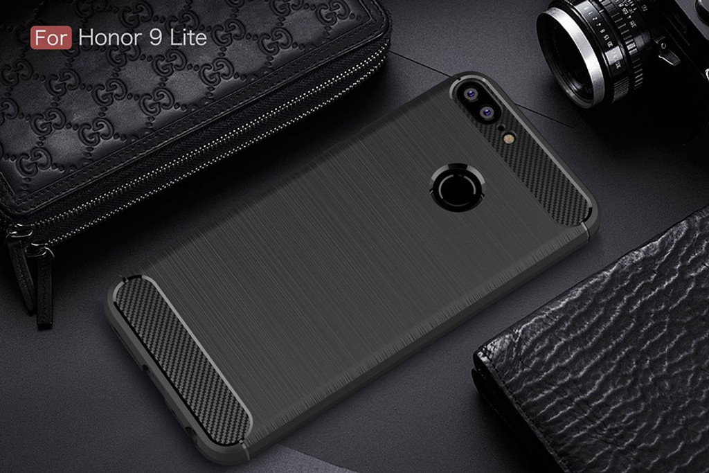 The Black Carbon Fiber Case for Huawei Honor 9 Lite