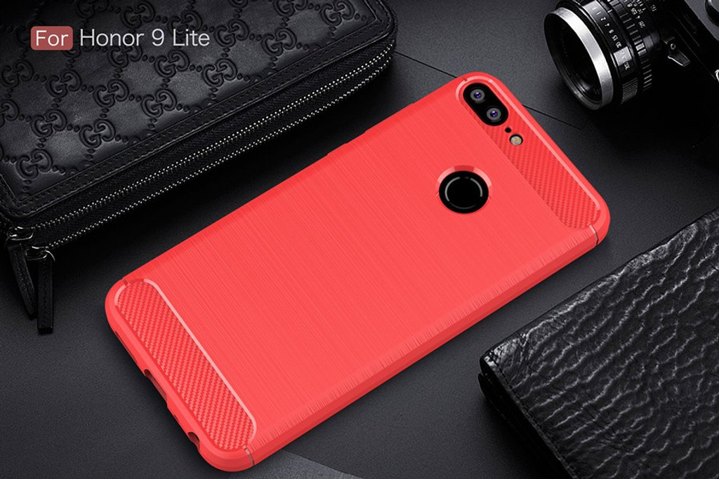 The Red Carbon Fiber Case for Huawei Honor 9 Lite