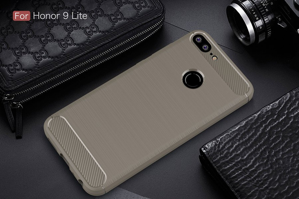 The Gray Carbon Fiber Case for Huawei Honor 9 Lite