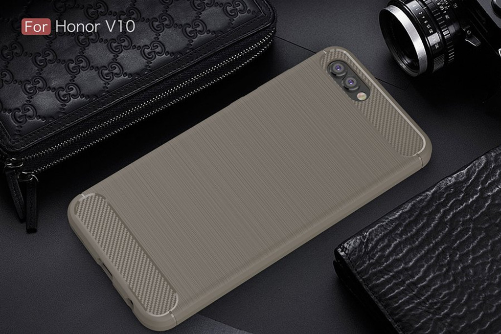 The Gray Carbon Fiber Case for Huawei Honor V10