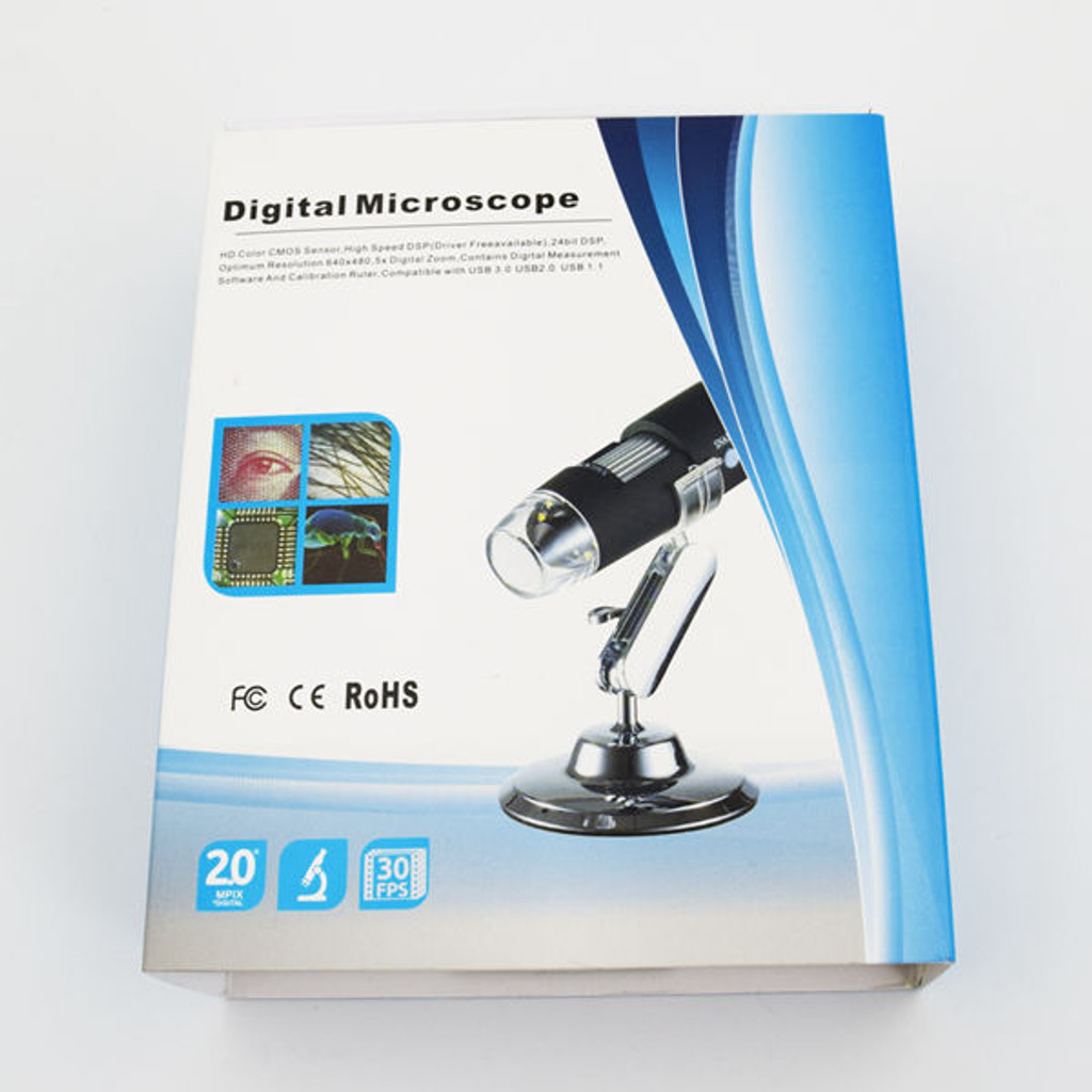 500X 8 LED Digital USB Microscope
