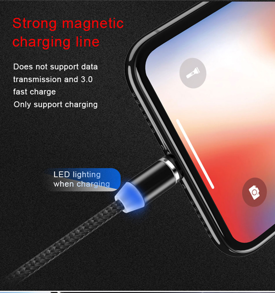 3 In 1 Magnetic Charging Cable for iPhone Android