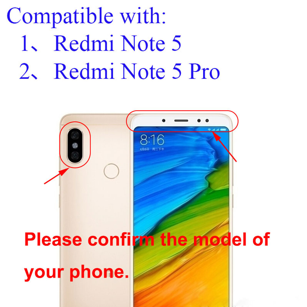 Xiaomi Redmi Note 5 Pro Camera Glass Lens with Adhesive