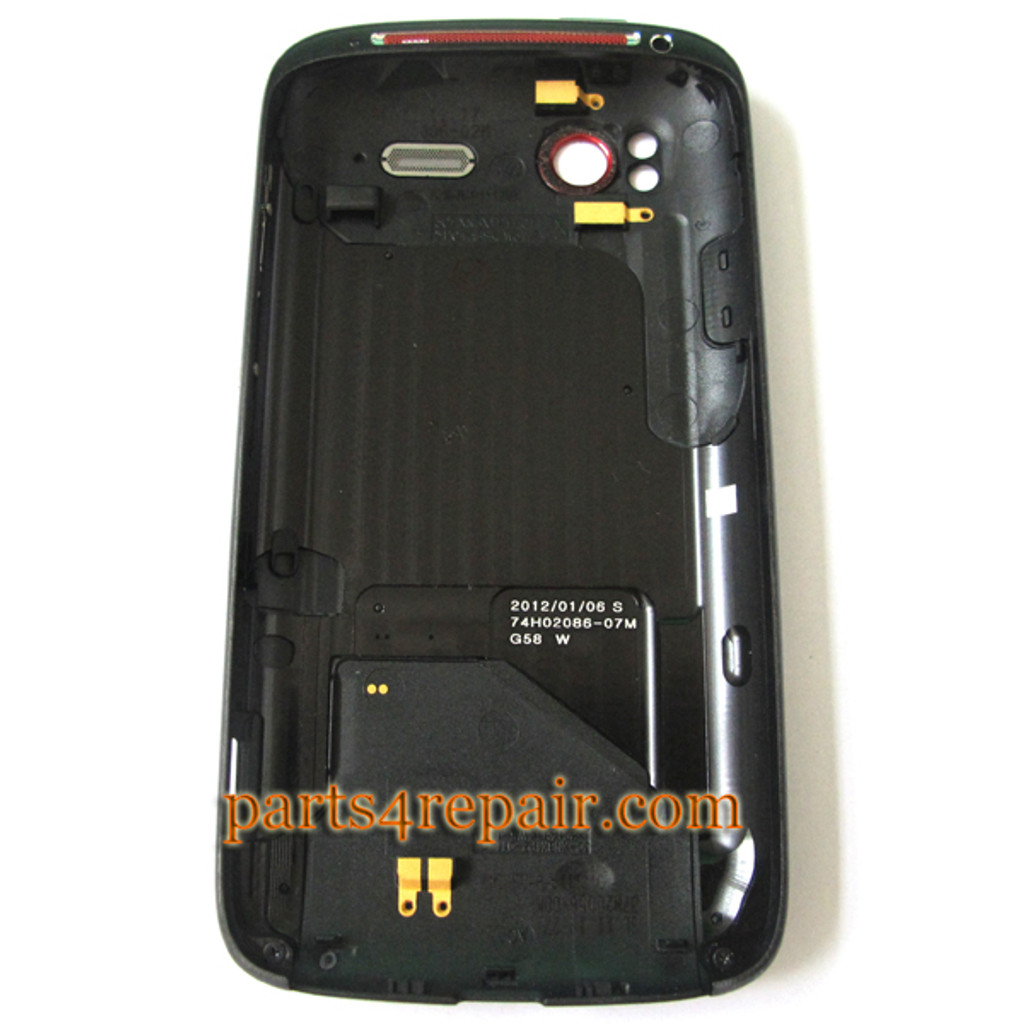 Back Cove for HTC Sensation XE -Black