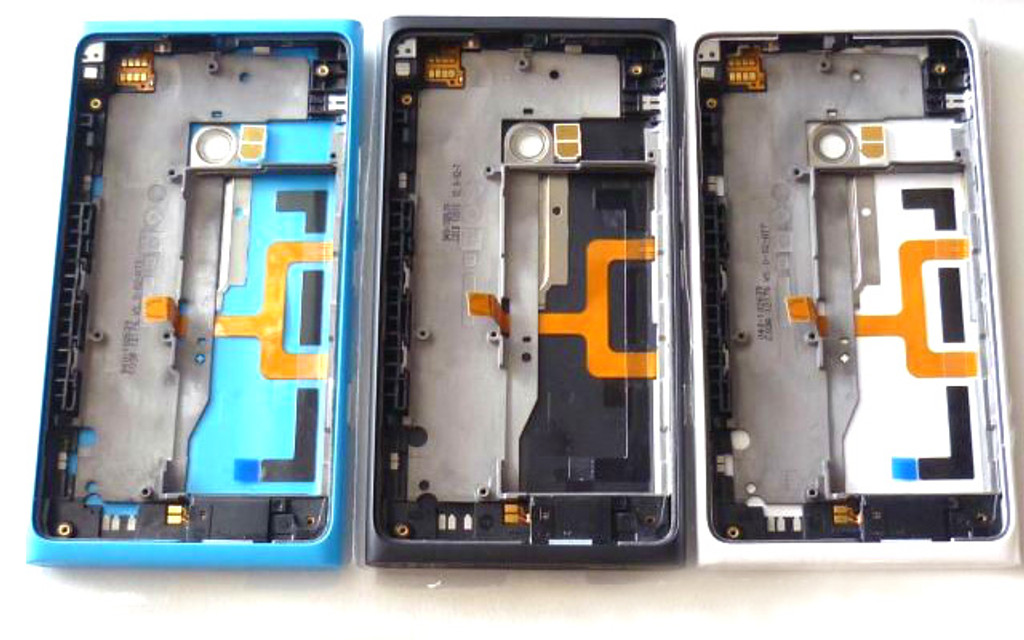 Back Housing Cover with Side Keys for Nokia Lumia 900 -Black