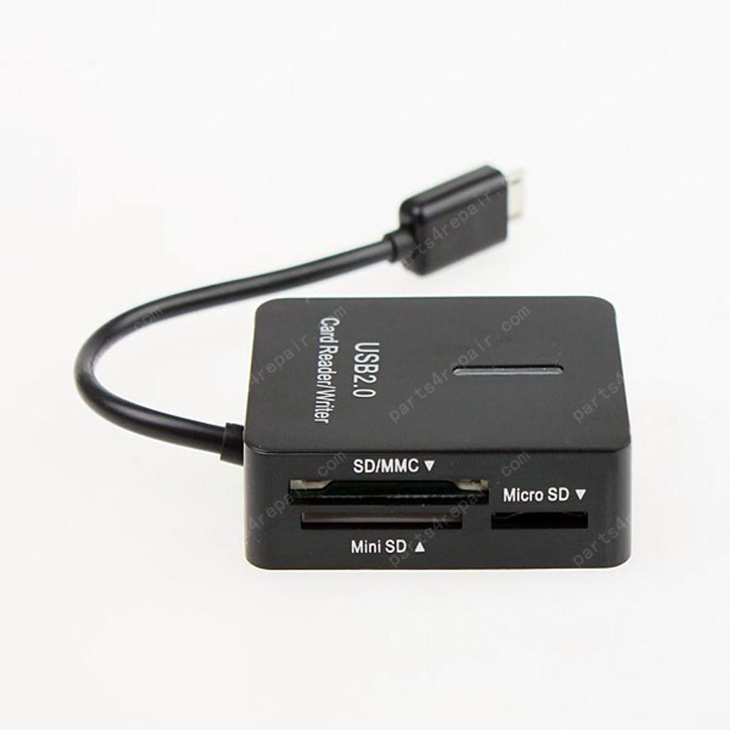 5 in 1 USB OTG Mobile Card Reader for Samsung N7000/I9100/I9300/I9250