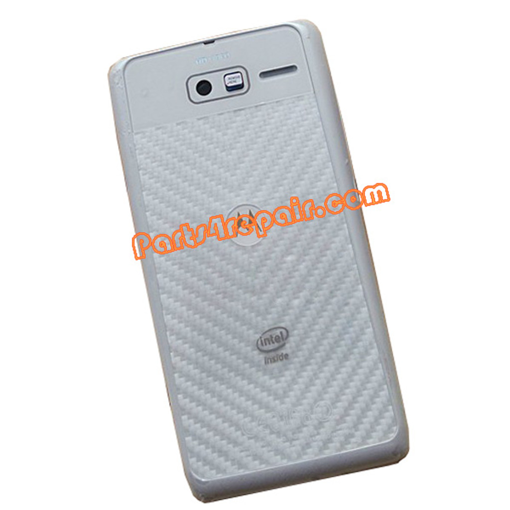 Back Housing Assembly Cover for Motorola RAZR I XT890 -White from www.parts4repair.com