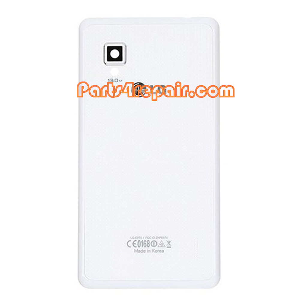 Back Cover for LG Optimus G E975 -White from www.parts4repair.com