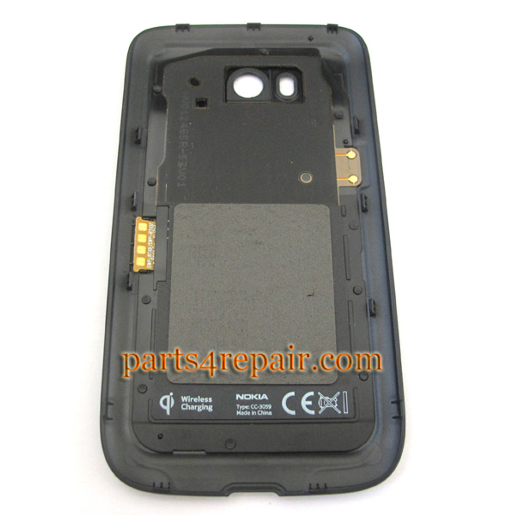 Back Cover with NFC for Nokia Lumia 822 -Black