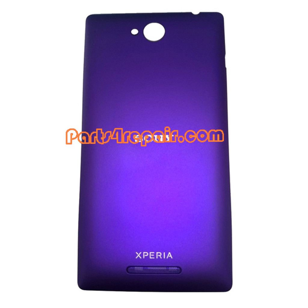 Back Cover for Sony Xperia C S39H -Purple from www.parts4repair.com