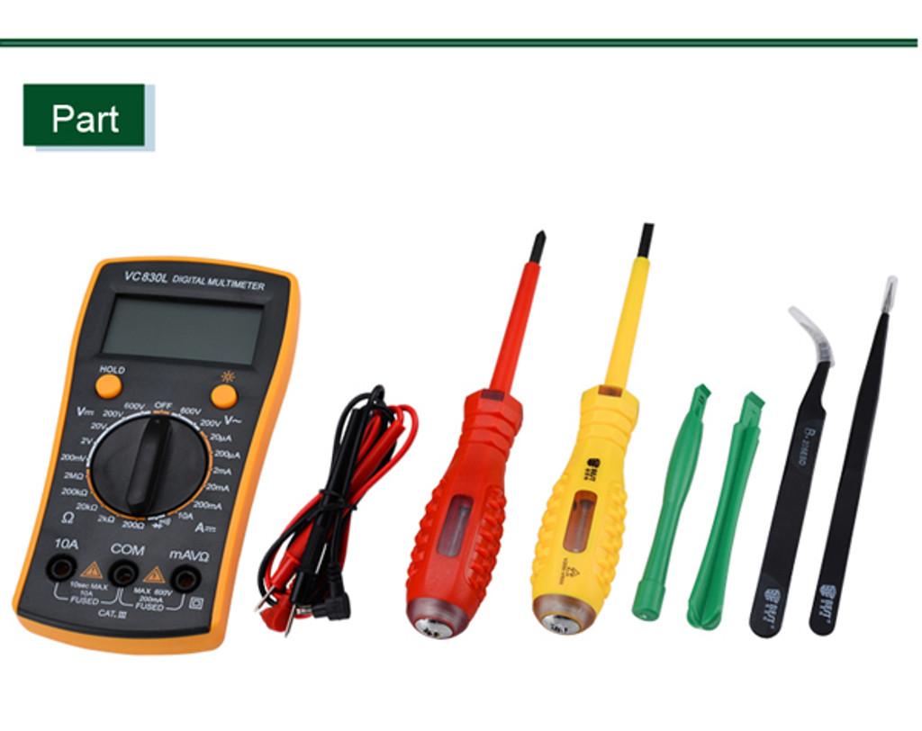 16 in 1 BST-113 Household Multi-function tools kit Solder Multimeter