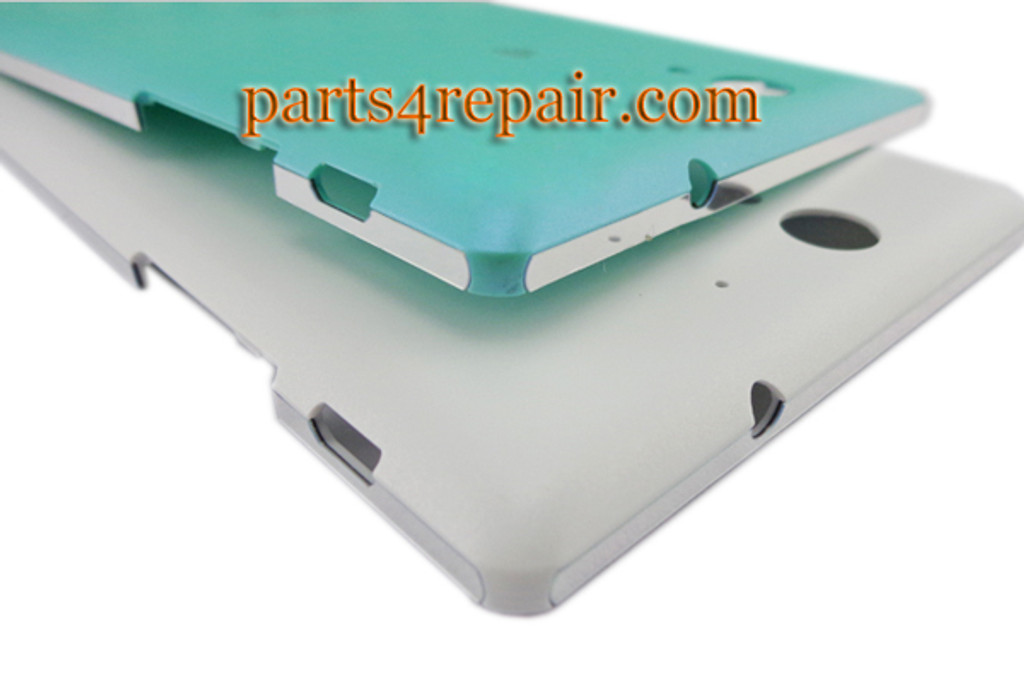 Back Cover with Side Keys for Sony Xperia C3 D2533 -White