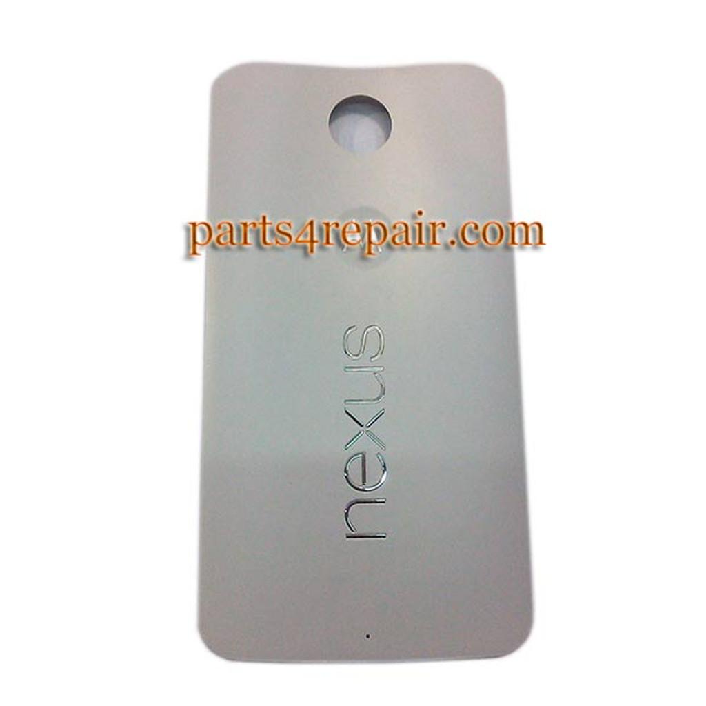 timeless design bad0f 2e74c Back Cover for Motorola Nexus 6 -White