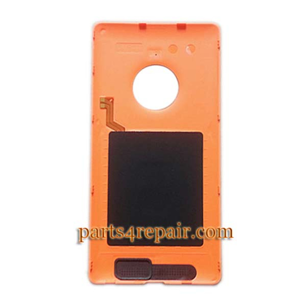 new concept 3d306 31d80 Back Cover with Wireless Charging Coil for Nokia Lumia 830 -Orange