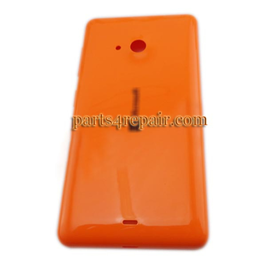 Back Cover with Side Keys for Microsoft Lumia 535 -Orange(Smooth and Bright) from www.parts4repair.com