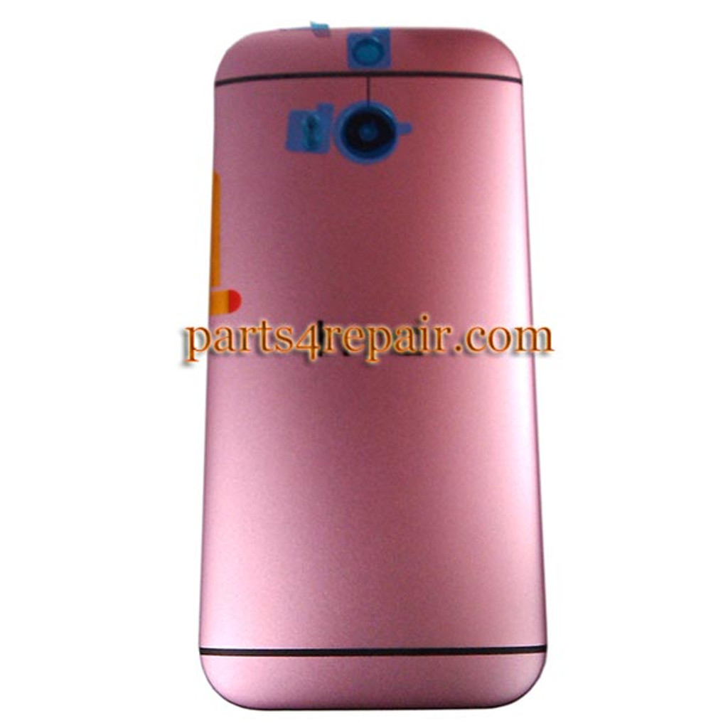 Back Cover with Side Keys for HTC One M8 -Pink