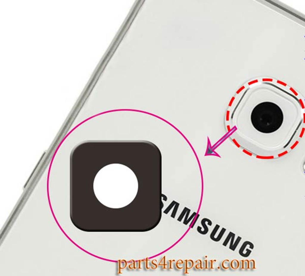 Camera Lens for Samsung Galaxy S6 / S6 Edge All Versions -Black