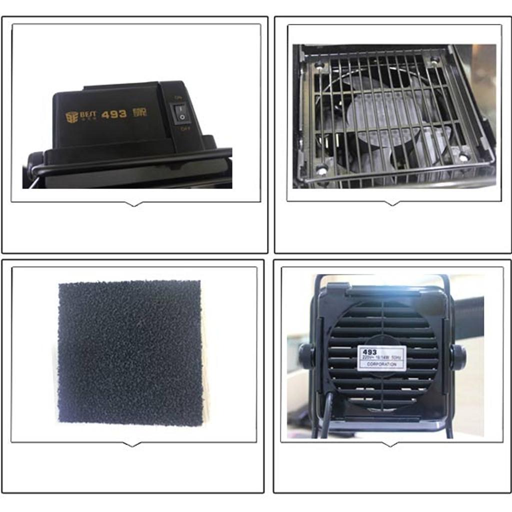 BEST 493 Smoke Absorber with Sponge Soldering Iron Smoking Machine Fume Extractor