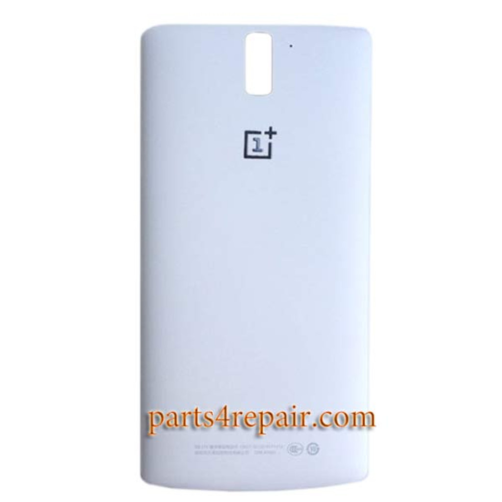 super popular 0141b 4bcbe Back Cover for OnePlus One -White - Parts4repair.Com