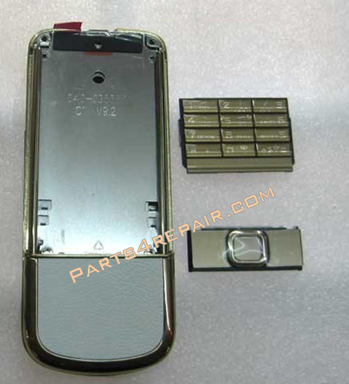 Full Housing Cover Replacement For Nokia 8800 Gold Arte 4g Parts4repair Com
